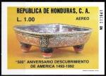 Sellos del Mundo : America : Honduras : 500 Aniversario descubrimiento de América