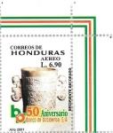 Stamps of the world : Honduras :  L Aniv. Banco Occidente. Cerámica maya
