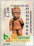 Sellos del Mundo : America : Honduras : L Aniv. Banco Occidente. Cerámica maya