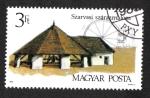 Stamps : Europe : Hungary :  Old Mills, molino de caballos, Szarvas