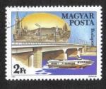 Stamps : Europe : Hungary :  Puentes del Danubio