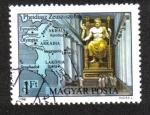Stamps : Europe : Hungary :  Siete maravillas del mundo antiguo, estatua de Zeus en Olimpia, por Pheidias