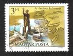 Stamps : Europe : Hungary :  Siete maravillas del mundo antiguo, Coloso de Rodas