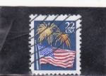Stamps : America : United_States :  BANDERA