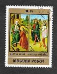 Stamps Hungary -  Pintura