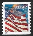 Stamps United States -  4026 - Bandera