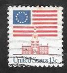 Sellos del Mundo : America : Estados_Unidos : 1076 A - Bandera Nacional, y Monumento