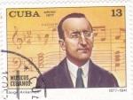 Stamps Cuba -  MUSICO CUBANO- JORGE ANKERMAN
