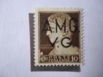 sellos de Europa - Italia -  Esfinge del Primer Emperador Romano, César Augusto - Ocupación Aliada de Venecia Julia- 2a Guerra Mu