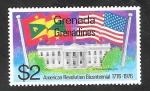 de America - Granada -  123 - Casa Blanca, y Banderas
