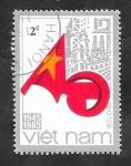 de Asia - Vietnam -  605 - 40 Anivº de la República socialista de Vietnam, Bandera Naconal