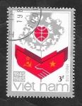 de Asia - Vietnam -  606 - 40 Anivº de la República socialista de Vietnam, Bandera Naconal