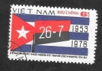 sellos de Asia - Vietnam -  130 - 25 Anivº de la Revolución cubana, Bandera