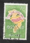 de Asia - Vietnam -  149 - 5º Anivº de la República, Bandera