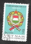 de Asia - Vietnam -  883 - 30 Anivº de la República de Hungría, Bandera