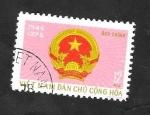 de Asia - Vietnam -  866 - 30 Anivº de la Fundación de la R.D. de Vietnam, Bandera