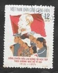 de Asia - Vietnam -  727 - 40 Anivº de la Fundación de jóvenes trabajadores Ho Chi Minh, Bandera