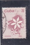 Stamps : America : Cuba :  FLORES- AZUCENA