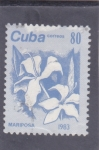 Stamps Cuba -  FLORES- MARIPOSA