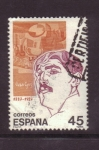 Stamps Spain -  serie personajes- juan gris