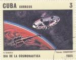 Sellos de America - Cuba -  AERONAUTICA- NAVES COSMICAS