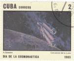 Stamps Cuba -  AERONAUTICA- CERCANÍAS DE LA LUNA