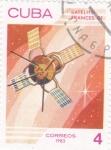 sellos de America - Cuba -  AERONAUTICA- SATÉLITE FRANCES D1