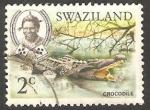 Sellos del Mundo : Africa : Swazilandia : Cocodrilo