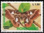 Sellos del Mundo : America : Honduras : Hyalophora cecropia