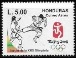 sellos de America - Honduras -  XXIX Olimpiada Beijing 2008