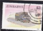 Stamps : Africa : Zimbabwe :  TRANSPORTE POR CARRETERA