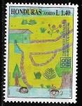 Stamps Honduras -  60º aniversario del plan internacional y 20 del plan nacional