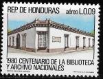 Sellos del Mundo : America : Honduras : Centenario de la Biblioteca y Archivos Nacionales