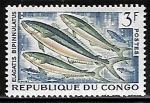 Stamps Republic of the Congo -  Rainbow Runner  (peces)