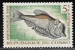Sellos del Mundo : Africa : República_del_Congo : Greater Silver Hatchetfish (pez)