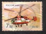 Sellos del Mundo : Europa : Rusia : Aviación, Helicóptero Ka-32 (tipo civil Ka-27