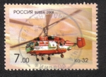 "Stamps : Europe : Russia :  Aviación, Helicóptero Ka-32 (tipo civil Ka-27 ""Helix"")"