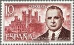 Stamps Spain -  ESPAÑA 1975 2242 Sello Nuevo Personajes Españoles Antonio Palacios