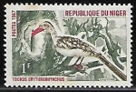 Sellos del Mundo : Africa : Nigeria : Northern Red-billed Hornbill