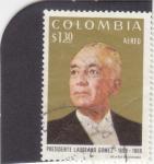 sello : America : Colombia : PRESIDENTE LAUREANO GOMEZ