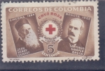 Stamps : America : Colombia :  CRUZ ROJA