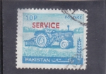 Stamps Pakistan -  TRACTOR- service