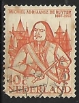 Stamps of the world : Netherlands :  Michiel Adriaanszoon de Ruyter (1607-76)