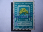 Stamps Venezuela -  Araguaney-Árbol Nacional (Tabebuia chrysantha) -Pro Defensa de la Flora Venezolana