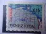Stamps Venezuela -  Reclamación de su Guayana - Mapa del Colombiano, José M. Restrepo (1781-1863)