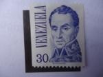 Stamps Venezuela -  Simón Bolívar (1783-1830) - por el Pintor Colombiano, José María espinosa (1796-1883)