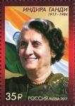 Sellos del Mundo : Europa : Rusia : Centenario del nacimiento de Indira Gandhi (1917-1984)