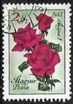 Stamps Hungary -  Rosas