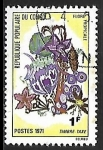 Stamps Republic of the Congo -  Flores Tropicales