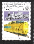 Stamps : Africa : Somalia :  tren